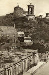 Zoom-in on detail from a  Hartmann Postcard of Calton Hill and Rock House