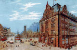 Postcard pub lished by McCorquodale & Co Ltd  -  Caledonian Railways' Princes Street Station Hotel and the West End of Princes Street