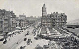 'National Series' post card  -  Princes Street and the North British Railway Hotel