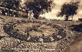 National Postcard  -  Floral Clock in Princes Street Gardens  -  1937