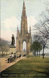 'National Series' postcard  -  Scott Monument from East Princes Street Gardens