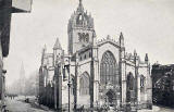 'National Series' post card  -  St Giles' Cathedral, High Street, Edinburgh