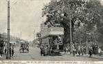Newhaen Road  -  One of the new electric trams in 1905
