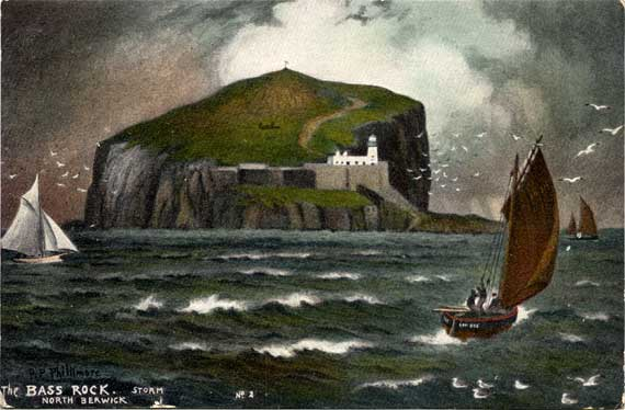 Postcard by Reginald  Phillimore  -  The Bass Rock in the Firth of Forth