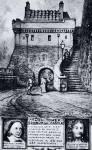 Postcard by Reginald P Phillimore  -  Argyle Tower at the entrance to Edinburgh Castle