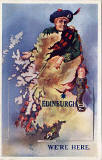Pocket Novelty card containing 12 small views of Edinburgh  -  Picture on the front is of Scotland