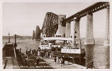 The Forth Rail Bridge and the ferry boat,Queen Margaret, on the Queensferry Passage at South Queensferry