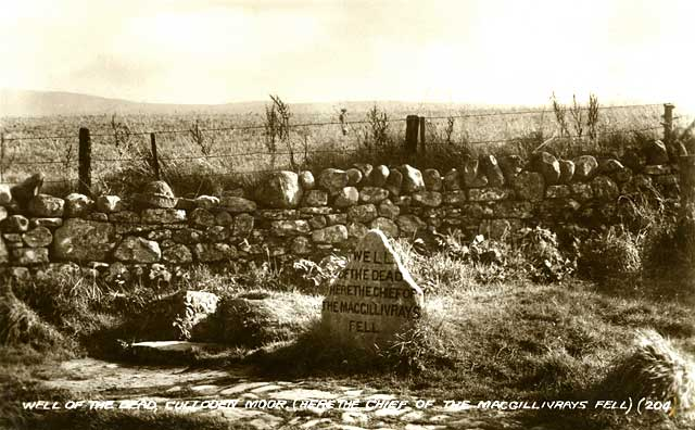 Postcard  -   Well of the Dead, Culloden Moor, Scotland