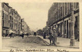 Postcard by W Smith, Goldenacre, Edinburgh  -  Looking to the south down Inverleith Row from Goldenacre