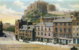 A 'Free Postcard' published by DC Thomson & Co Ltd  -  Edinburgh Castle from Grassmarket