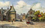 "Raphael Tuck ""Oilette"" postcard  -  The Canongate from Holyrood Palace"