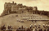 "Raphael Tuck ""Sepia"" postcard  -  Edinburgh Castle and Esplanade"