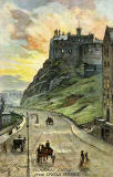 "Raphael Tuck ""Oilette"" postcard  -  Edinburgh Castle from Johnstone Terrace"