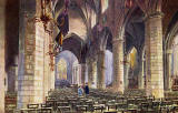 "Raphael Tuck ""Oilette"" postcard  -  St Giles Church interior"