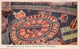 Postcard by Valentine  -  Floral Clock in Princes Street Gardens  -  1947