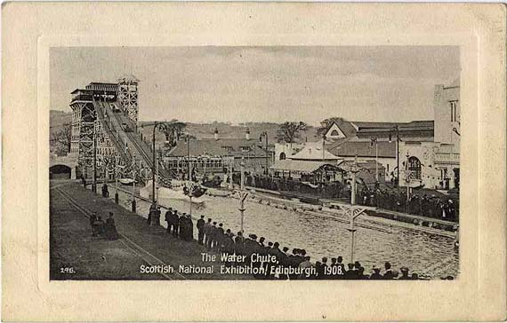 Valentine Postcard of the Water Chute at the Scottsh National Exhibition, Edinburgh 1908