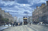 Postcard by Valentine  -   Tram approaching the foot of Leith Walk, 1902