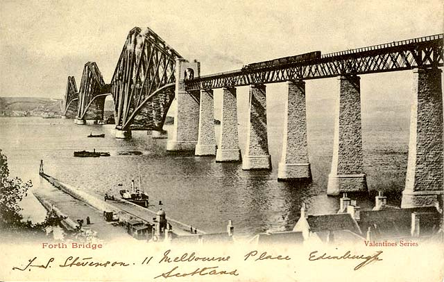 Valentine Postcard - The Forth Bridge, 1890