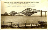 Valentine Postcard  -  view of the Forth Bridge from Queensferry  -  1934