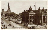Valentine Postcard  -  View to the east along Princes Street, from Frederick Street  -  sepia