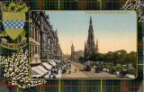 Valentine Postcard  -  View to the east along Princes Street, from an upper floor in Princes Street, from the foot of the Mound  -  1905