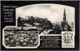 Postcard by Valentine  -  Princes Street and the Floral Clock in West Princes Street Gardens  -  Which year?