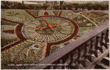 Postcard by Valentine  -  Floral Clock in Princes Street Gardens  -  1937