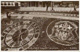 Postcard by Valentine  -  Floral Clock in Princes Street Gardens  -  1952