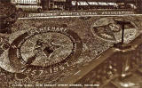Valentine Postcard  -  Floral Clock in Princes Street Gardens, Edinburgh  -  1957
