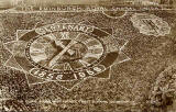 Valentine Postcard  -  Floral Clock in Princes Street Gardens, Edinburgh  -  1958