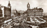 Valentine postcard    Looking to the east along Princes Street from the Scott Monument  -  1936