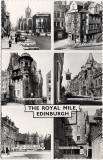 Postcard by Valentine  -  Six views of the Royal Mile, Edinburgh.