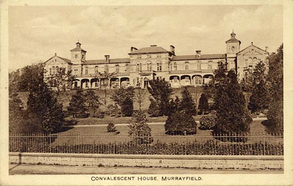 Postcard published by Waddell, Corstorphine  -  Convalescent House, Murrayfield