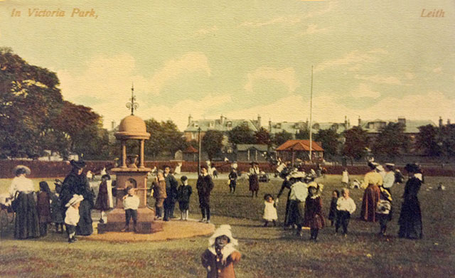 A postcard published by Marshall Wane & Co  -  Lots of Children in Victoria Park