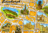 Map of Edinburgh on a Postcard, published by Whiteholme of Dundee