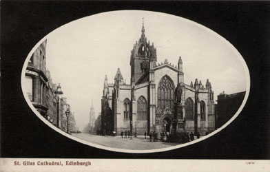 Post Card  -  St Giles' Cathedral  -  George Washington Wilson