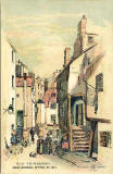 Postcard by W R & S  - Old Edinburgh, High School Wynd in 1837
