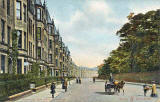 W R and S Postcard  -  Bruntsfield, Warrender Park Road  -  Possted 1906