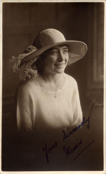 GR Mackay  -  Postcard Portrait  -  Girl wearing a Hat