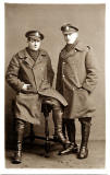 Postcard Portrait from Morrison's Studio  -  Two soldiers (from which Regiment?) - one possibly being a relative of David Abrahams