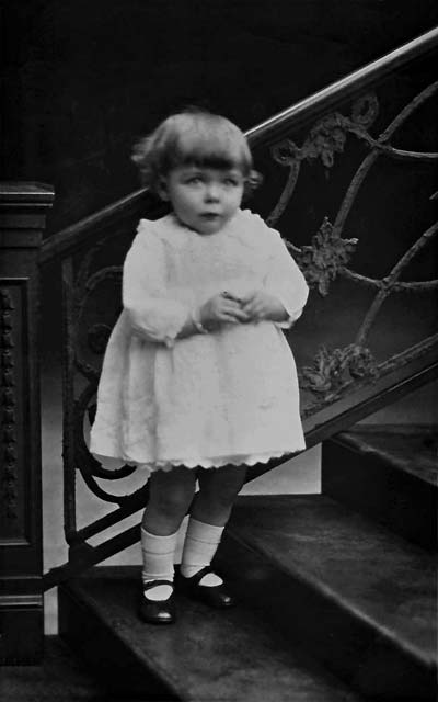 Postcard Portrait  -  Alex Roberts  -  small girl on stairs