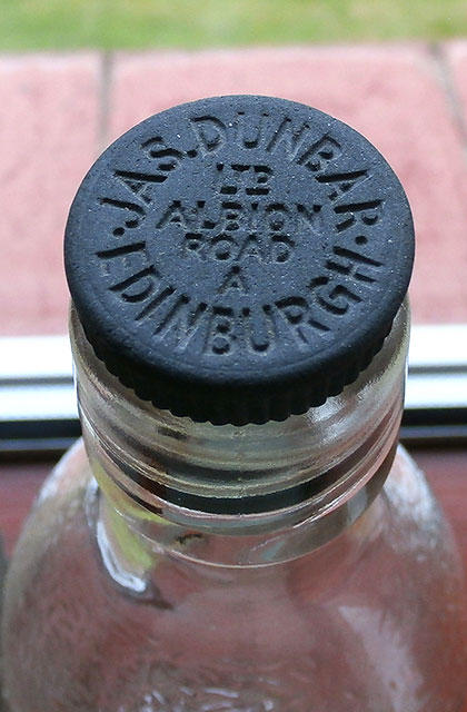 Two bottles from the lemonade works of James Dunbar Ltd., 68 Albion Road, Edinburgh