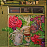 The Haven  -  cafe at 9 Anchorfield, on the corner of Hawthornvale