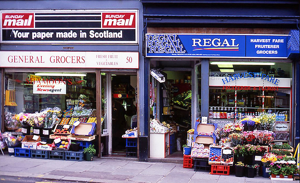 50 + 52 Broughton Street, General Grocers + Harvest Fares - 1993