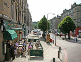 Cafe on the corner of Brunswick Street and Leith Walk  -  August 2007