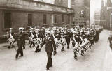 Parade up Castlehill towards Edinburgh Castle Esplanade - around 1953