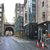 Cowgate  -  Looking west to South Bridge, 2016