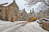 Snow Plough at Dean Village  -  November 29, 2010