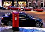 Dundas Street, Pillar Box and Cars  -  November 2010