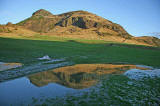 Arthur's Seat and Reflection from near St Leonard's Entrance to Holyrood Park